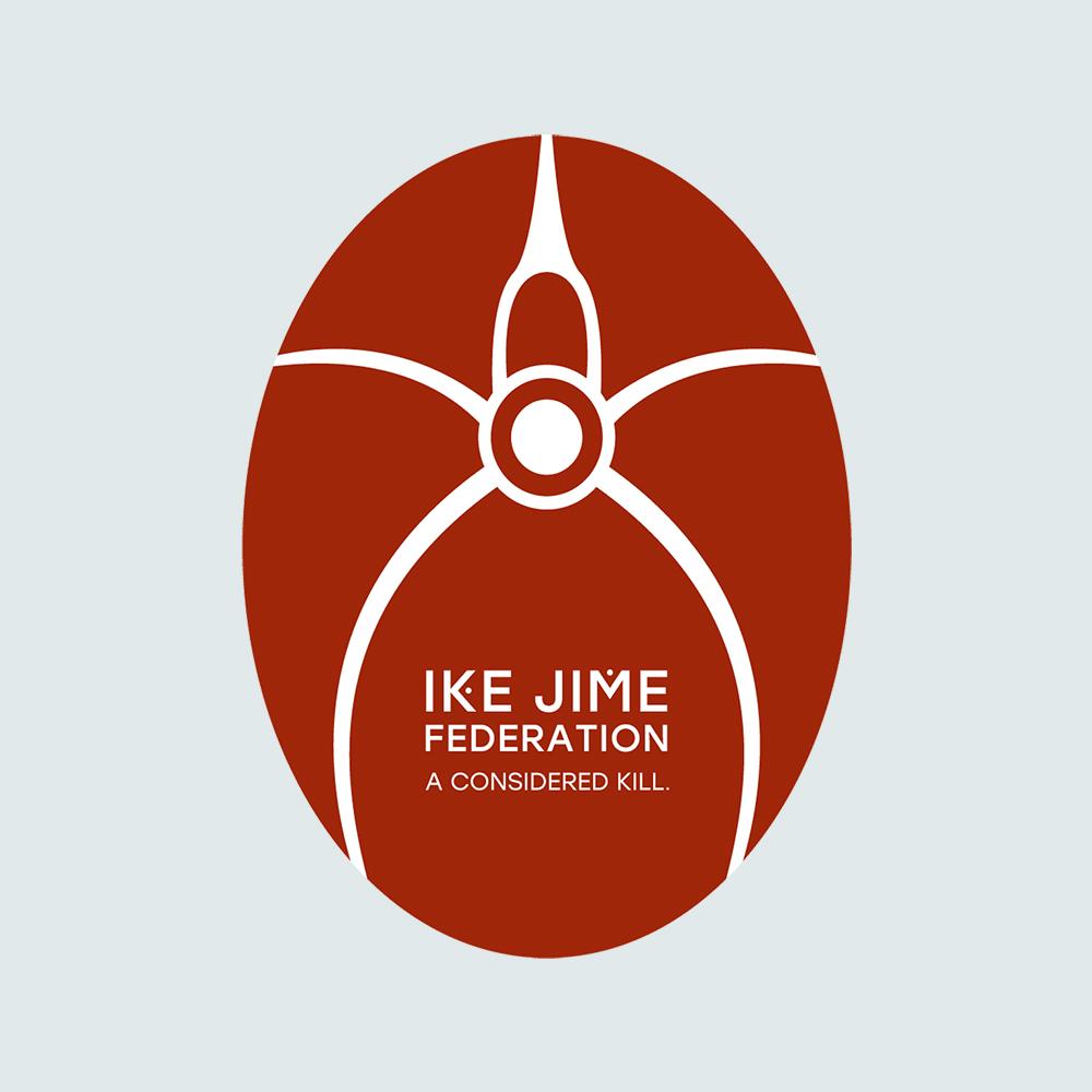 Ike Jime Fed oval Decal Text Tagline